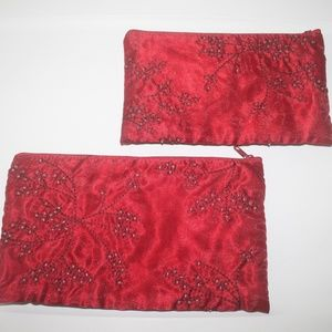 Handbags - 2 Pair Red Retro Style Clutch purses